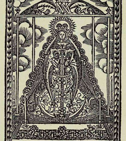 Antiguo grabado de la virgen del rocío