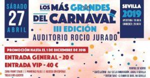 Los más Grandes del Carnaval 2019 – Auditorio Rocío Jurado