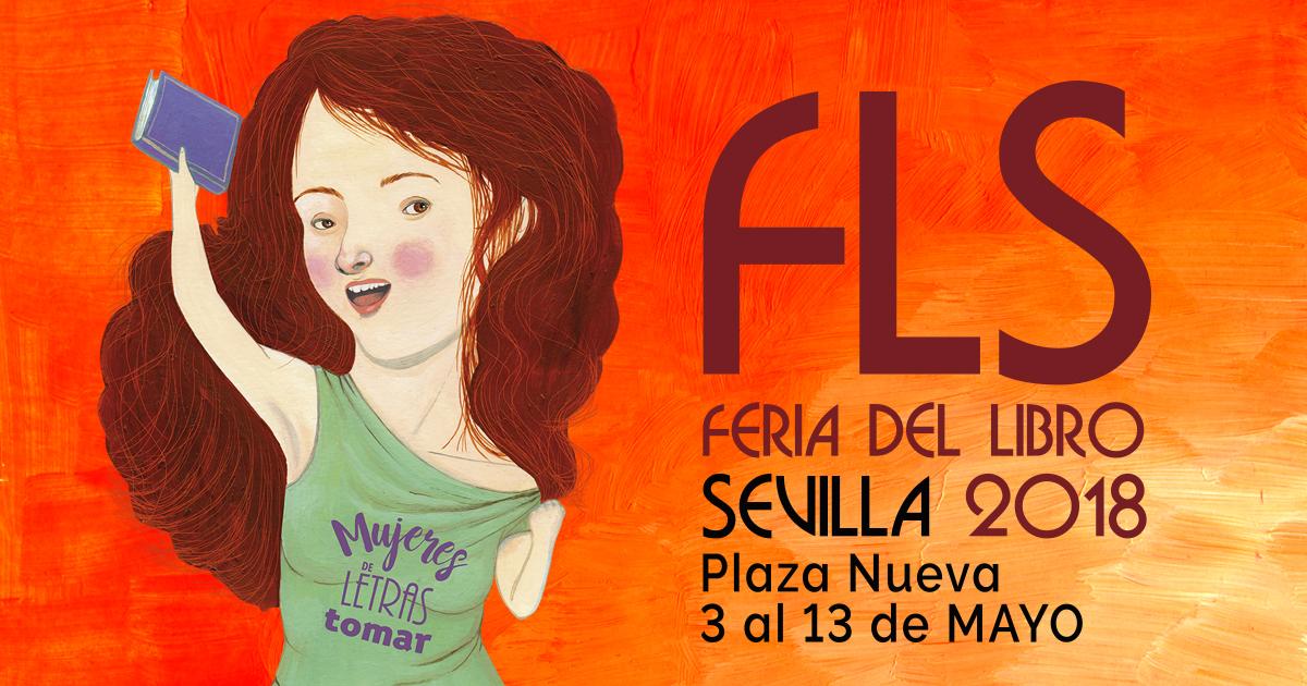Cartel Feria del libro 2018. Sevilla.