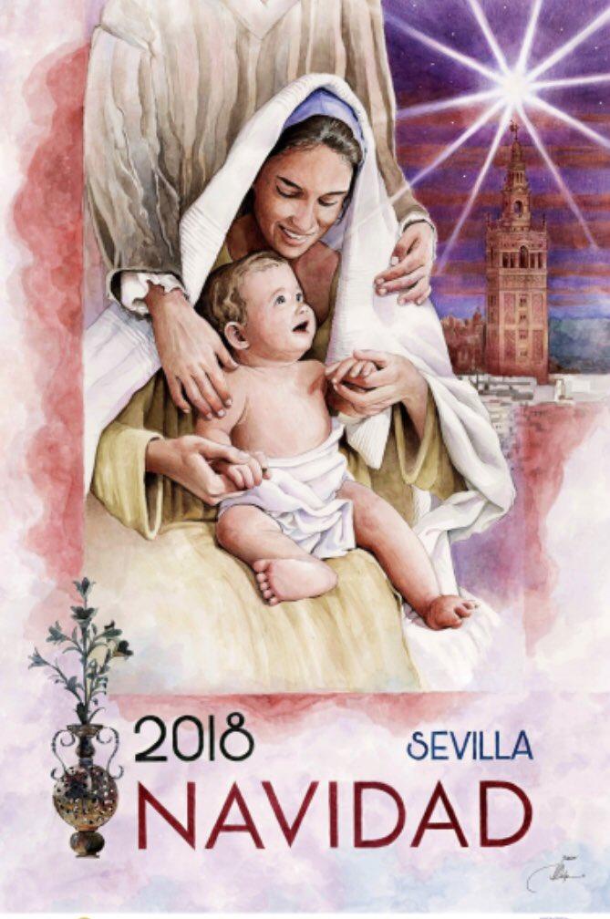 Cartel de la Navidad de Sevilla 2018 de la asociación de Belenistas. Javier Jiménez Sánchez-Dalp
