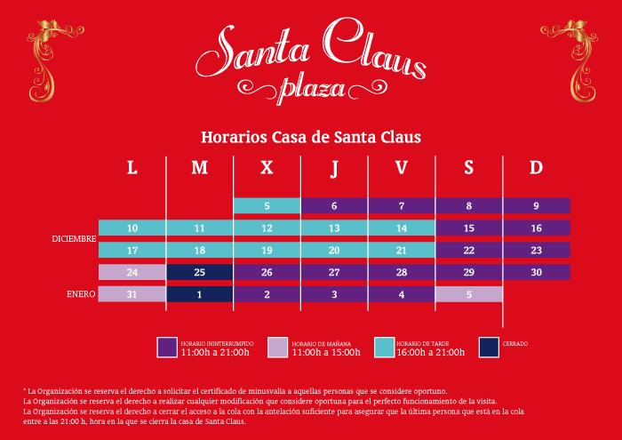 Horarios-Casa-Santa-Claus-Nervion-Plaza