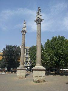 Columnas en la Alameda de Hércules en Sevilla