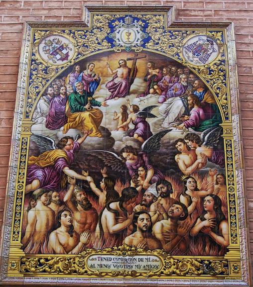 Azulejo en la iglesia San pedro. Sevilla Fuente: El vuelo de Hermes