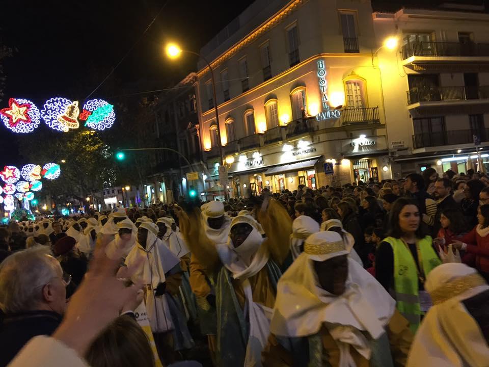 Beduinos en la Cabalgata de Reyes Magos de Sevilla