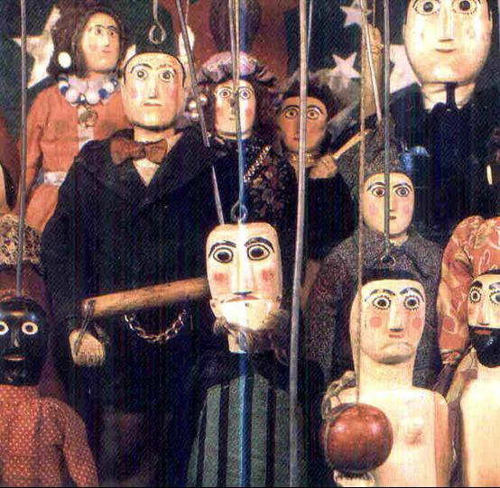 Bonecos (marionetas) de Santo Aleixo. Títeres para adultos. 37 FERIA INTERNACIONAL DEL TÍTERE DE SEVILLA