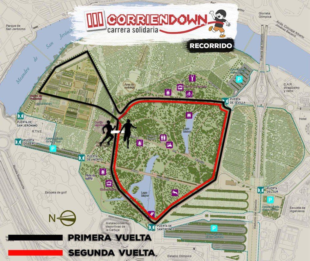 III Corriendown Sevilla. Carrera Solidaria en el Parque del Alamillo