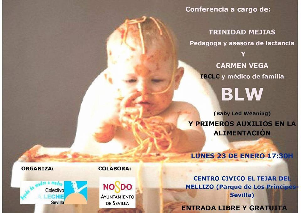 Conferencia BLW (Baby Led Weaning) y Primeros Auxilios en la Alimentación en Sevilla