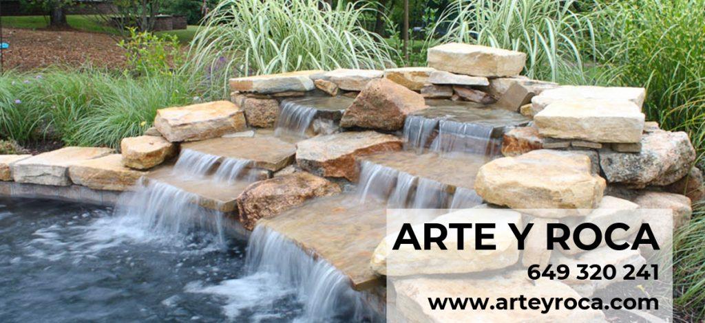 Construcción de cascadas para piscinas | Construcción de piscinas de arena | Construcción con piedra artificial