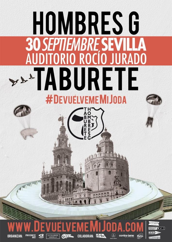 Taburete Sevilla.Concierto Hombres G Taburete Sevilla Auditorio Rocio Jurado
