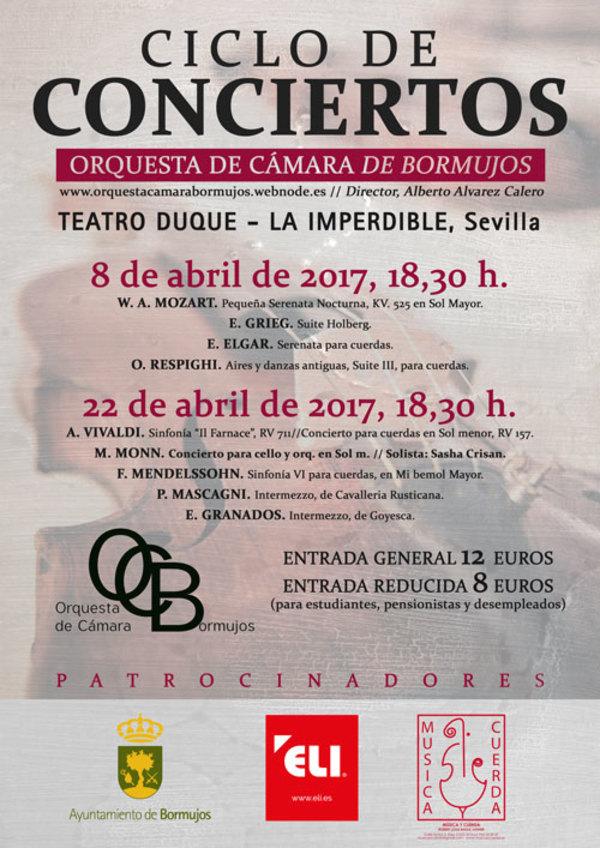 Concierto. ORQUESTA DE CÁMARA DE BORMUJOS. Teatro Duque-La Imperdible, Sevilla