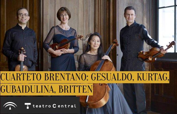 Cuarteto Brentano. Ciclo de Música(s) Contemporánea(s) 2017. Teatro Central, Sevilla