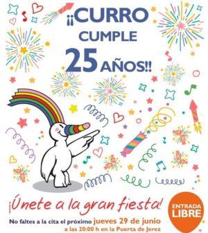 Curro celebra su 25 cumpleaños con una gran fiesta en la Plaza de San Francisco. Jueves 29 Junio 2017