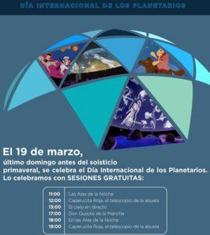 Día Internacional de los Planetarios en La Casa de la Ciencia, Sevilla. Domingo 19 de Marzo