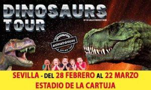 Exposición dinosaurios en Sevilla