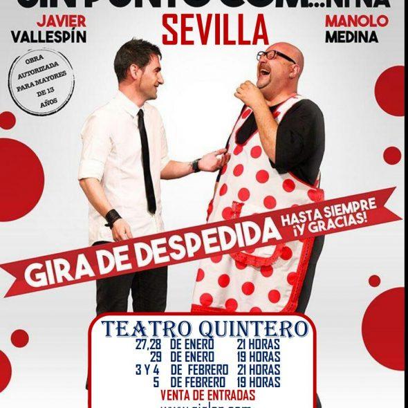 Dos hombres solos, sin punto com… ni ná – Teatro Quintero Sevilla