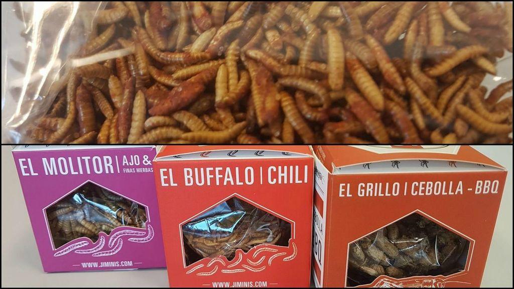 Insectos comestibles en los supermercados. Fuente: El Español.