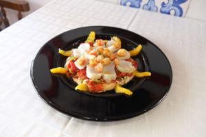 ensalada de bacalao confitado