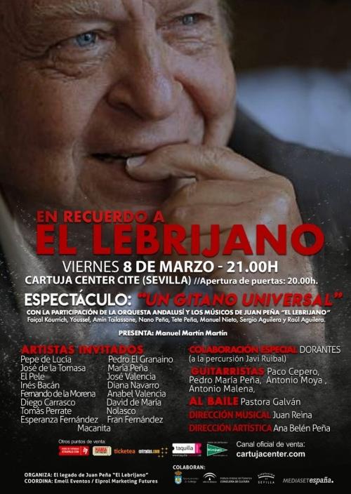 Gala homenaje El Lebrijano - Cartuja Center