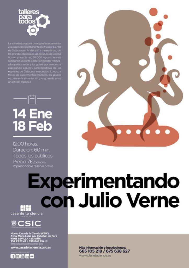 Taller: Experimentando con Julio Verne - Casa de la Ciencia Sevilla