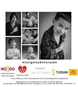 "Exposición ""Insignias de Corazón"" de la Asociación Corazón y Vida para sensibilizar sobre las cardiopatías congénitas"
