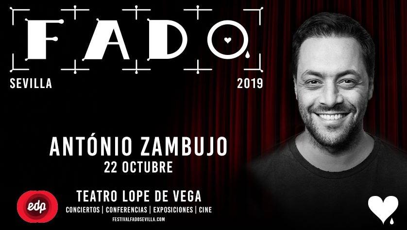 ANTONIO ZAMBUJO. Festival de Fado en Teatro Lope de Vega, Sevilla