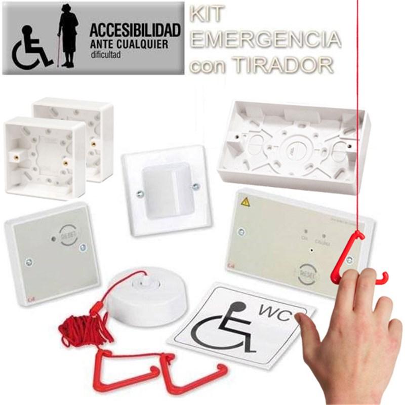 KIT alarma WC para personas con discapacidad física o personas mayores | Sistema de alarma de emergencia (DDA CALL) en centros de asistencia y geriátricos | Sistema de llamada como ayuda técnica a discapacitados para personas con discapacidad