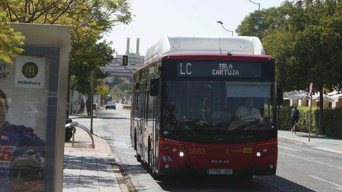 lanzadera-autobus-Tussam-Cartuja_sevilla