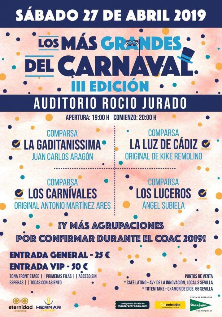 La più grande Carnevale 2019 - Auditorio Rocio Jurado Siviglia