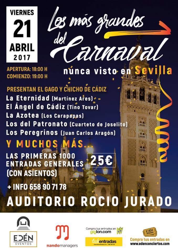 Los mas grandes del carnaval Sevilla auditorio rocio jurado 2017