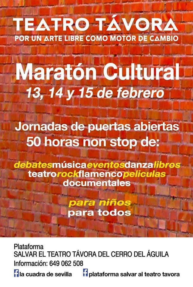 maraton-cultural-teatro-tavora-cartel
