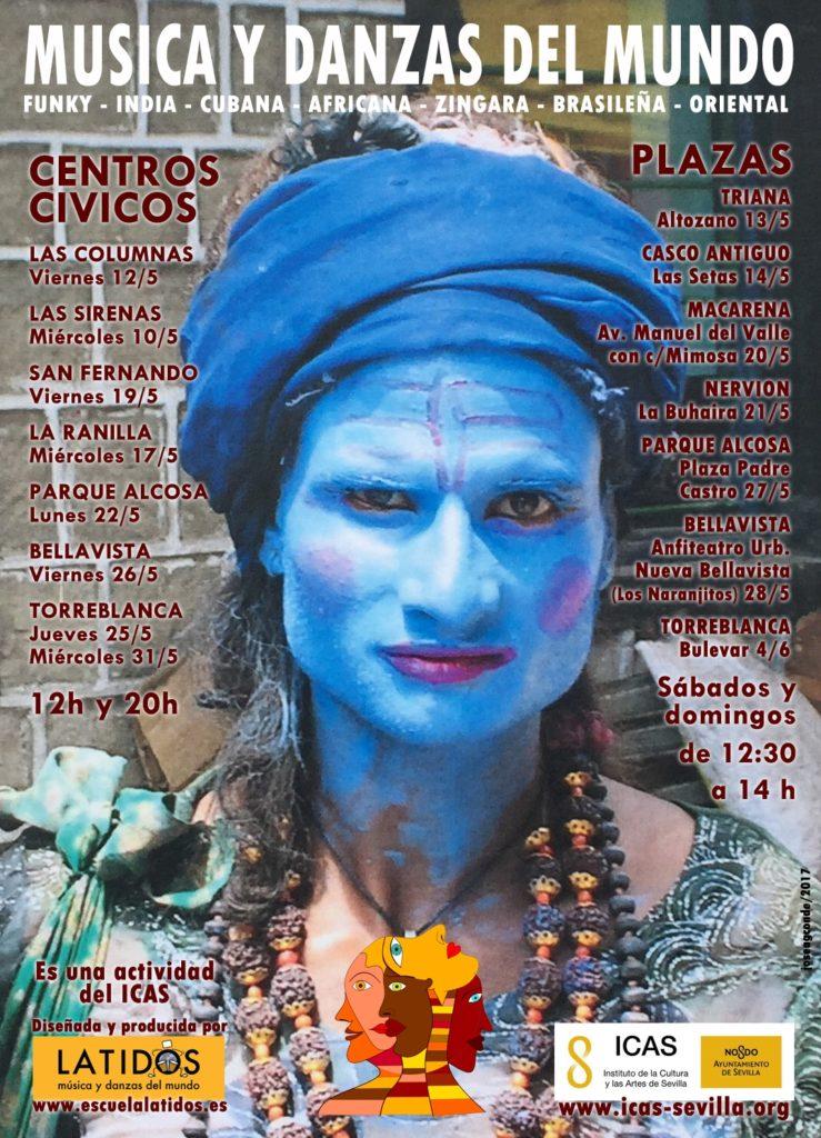 musica-danzas-del-mundo-distritos-y-centros-civicos-sevilla-2017-cartel
