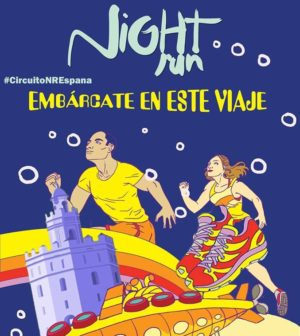 Carrera Night Run Sevilla conmemorativa del 25 aniversario de Expo92. Isla de la Cartuja