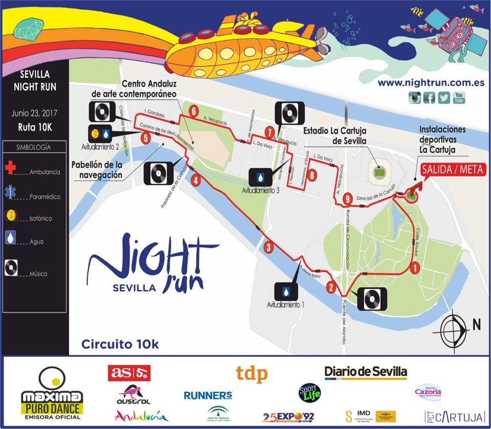 night-run-sevilla-carrera-nocturna-isla-cartuja-recorrido