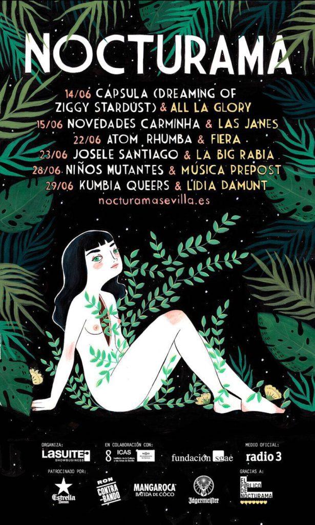 NOCTURAMA 2017. Ciclo de Conciertos en el Casino de la Exposición, Sevilla