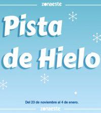 Pista de patinaje sobre hielo en C.C. Zona Este. Navidad Sevilla 2019