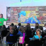 """Campaña escolar """"La Sevilla Romana"""". En Antiquarium, Sevilla"""