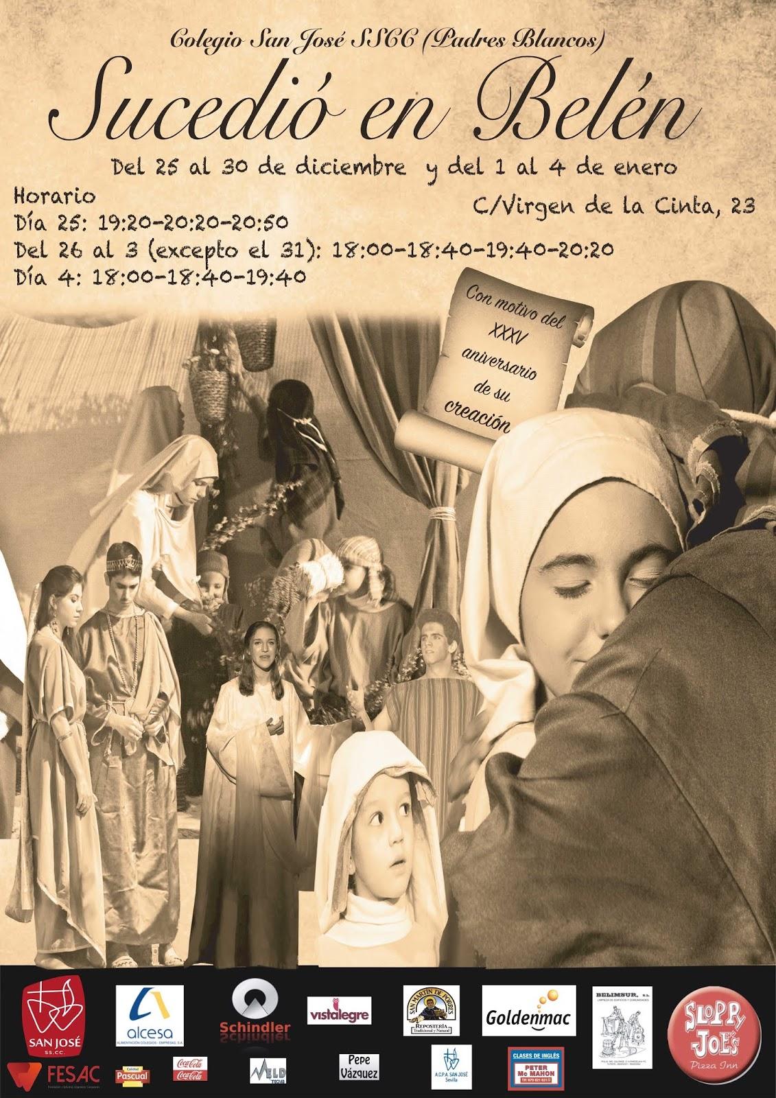 Belén viviente del colegio Padres Blancos, Sevilla. Sucedió en Belén.