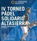 IV Torneo de Pádel Solidario Altasierra. Sevilla 2017