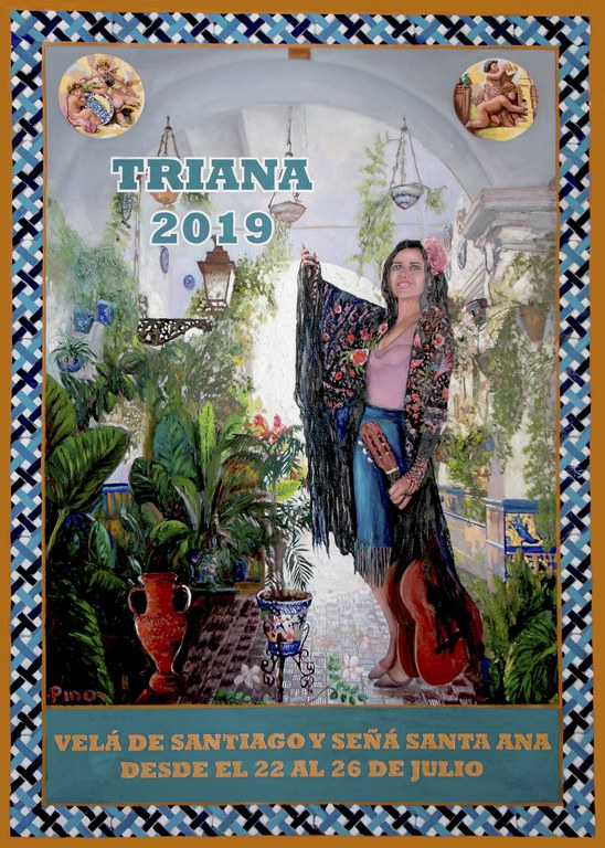 Velá de Santiago y Santa Ana. Triana 2019. Cartel
