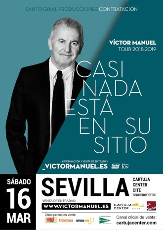 Concierto Víctor Manuel – Casi nada está en su sitio - Cartuja Center