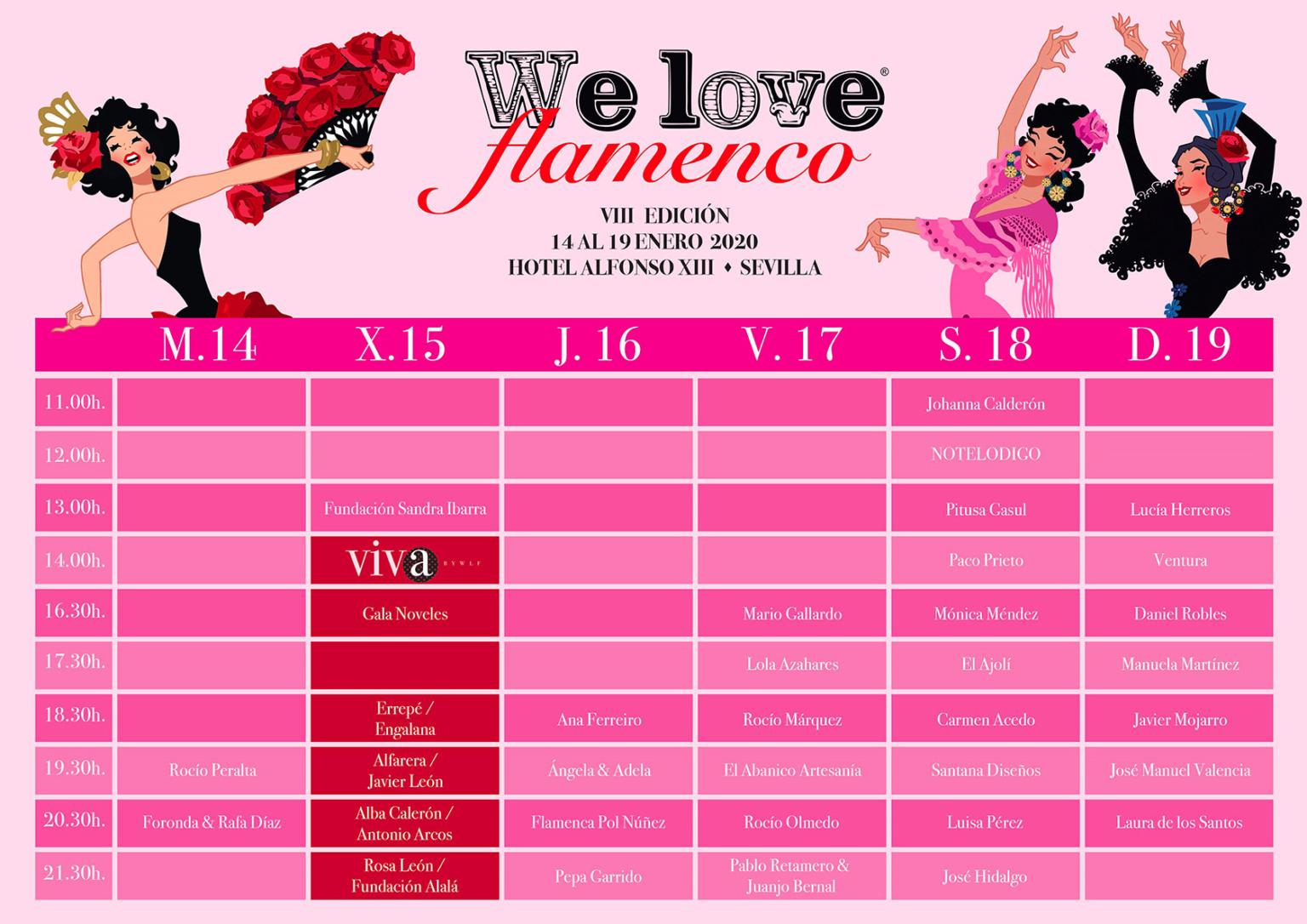 We Love Flamenco. Pasarela de moda flamenca. Desfiles y Programa 2020.
